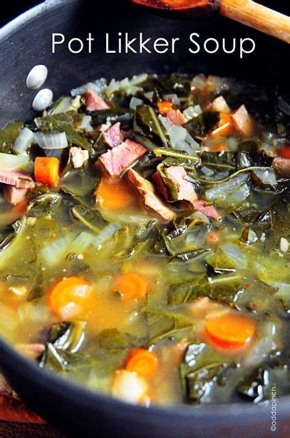pot likker soup recipe cooking add  pinch soup recipes greens recipe recipes