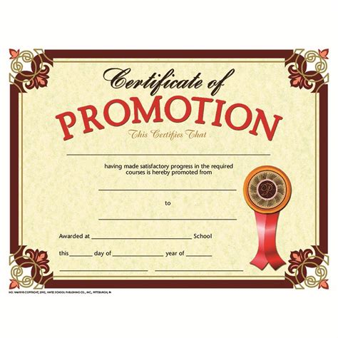 Promotion Card Template Free by Certificate Promotion 30 Set The Knowledge Tree