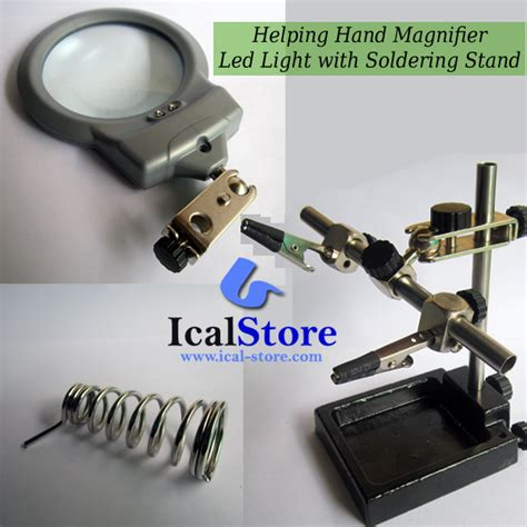 Alat Pegangan Solder Helping Kaca Pembesar Lu Led alat pegangan solder lengkap kaca pembesar dan led ical store ical store
