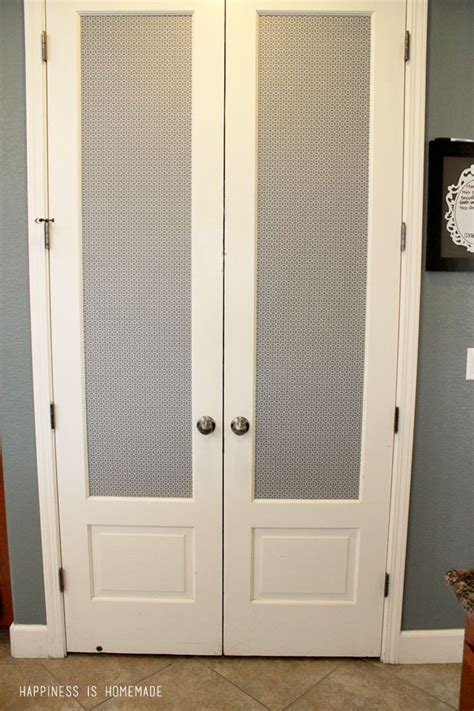 Pantry Doors With Glass Interior Exterior Pantry Makeover Glass Pantry Door Shelf Paper And Door Makeover