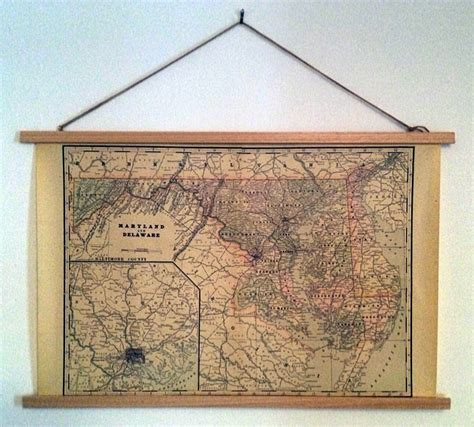 how to hang a map without a frame longdistancediy how to make a diy poster hanger