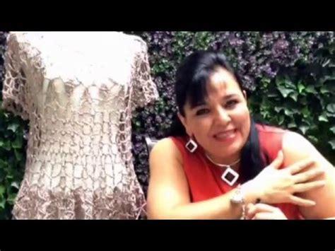 blusas tejidas de laura cepeda parte1 blusa de hojas tejida con ganchillo f 225 cil y