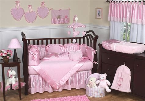 Satin Crib Bedding Sets by Pink Chenille And Satin Baby Bedding 9 Pc Crib Set Only