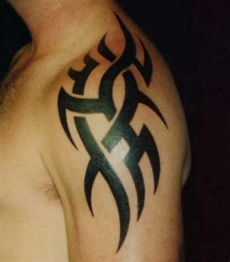 black tattoos for men shoulder