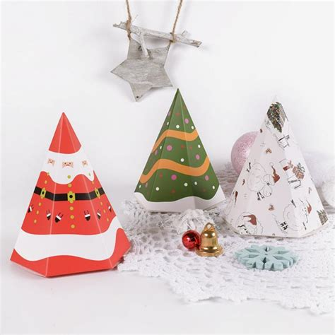 pcsset  hot merry christmas candy box bag christmas tree santa claus gift box paper box