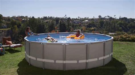 piscine intex ultra frame youtube
