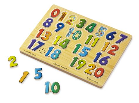 Puzzle Number math for learning numbers puzzle and doug