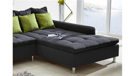 mit breiter ottomane ecksofa montego sofa mit ottomane dunkelgrau kissen gr 252 n