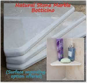 marble shelf natural stone shower corner bathroom by marblezone