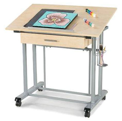 Craft Table With Drawers by Home Styles Adjustable Drawing And Craft Table With Drawer 88 7053 01 Homelement