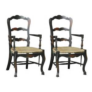Country Dining Chair Furniture Classics 1146 Country Ladderback Arm Dining Chair Set Of 2 Atg Stores