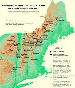 map of eastern us mountain ranges map new usa states