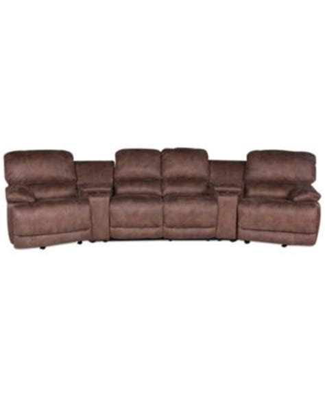 jedd fabric sectional jedd fabric 6 piece power reclining sectional sofa 2