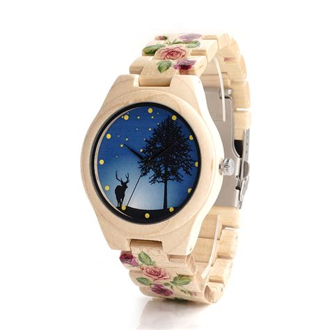 Bobo Bird Pine Wood Luxury With Uv Printing Flower buy wholesale cool japanese watches from china cool