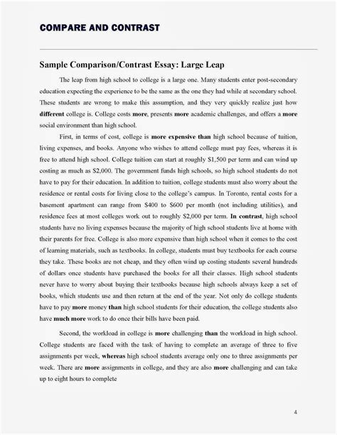 buy a comparison with the smallest conclusion you compare contrast essay outline exle
