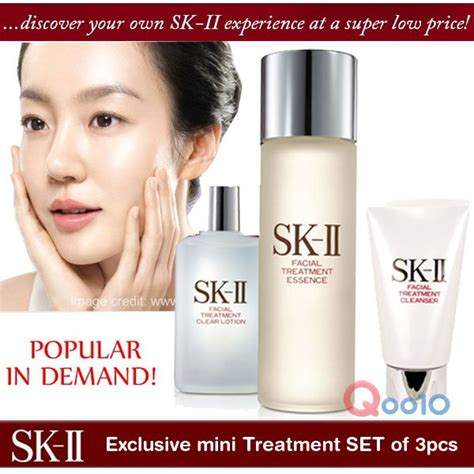Sk Ii Clear Lotion 10 Ml sk ii mini treatment set 100 original 30ml 20ml 10ml