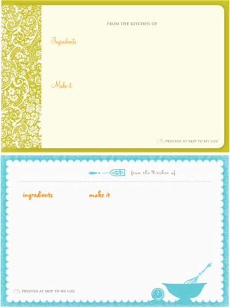 printable recipe card maker free printable card creator image search results