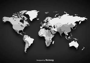 us map grayscale grayscale vector worldmap free vector