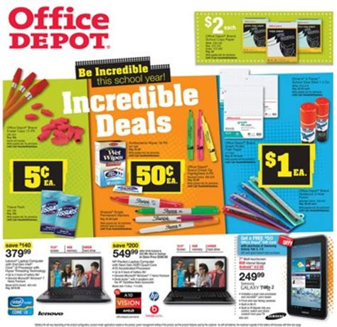 Office Depot Weekly Ad Office Depot Back To School Deals Aug 26 Sept 1