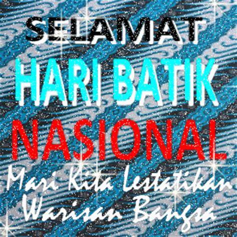 kumpulan gambar batik ucapan hari batik nasional kata estetika