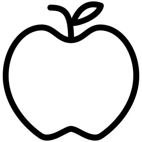 Apple Outline Png apple icon line iconset iconsmind