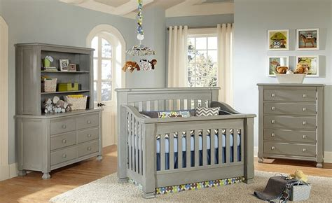 Everything Nice Spice Crib In Vintage Grey Traditional Gray Nursery Furniture Sets