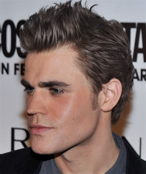 Paul Wesley Short Straight Casual Hairstyle (Ash)