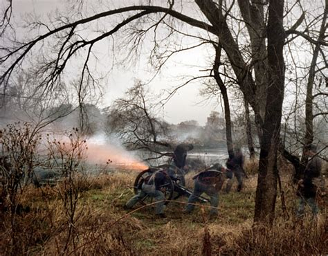 large format pinhole civil war reenactments photographed with a large format