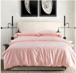 2015 100 cotton light pink bedding set sheets