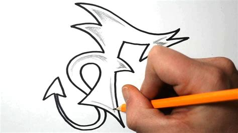 F Drawing Design by How To Draw Graffiti Letters F