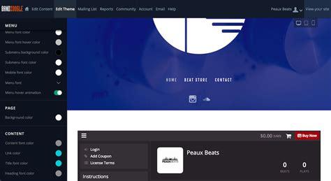 Beat Producer Website Design 1 Template 3 Ways Producer Website Template
