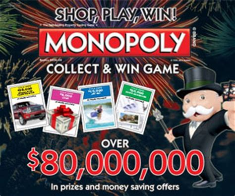 Monopoly Millionaire Sweepstakes - albertsons monopoly collect and win game 2015