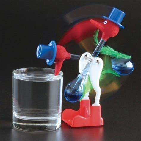 vintage retro happy glass bird novelty
