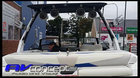 malibu boat speakers malibu ski boat wake tower speakers av concept audio and