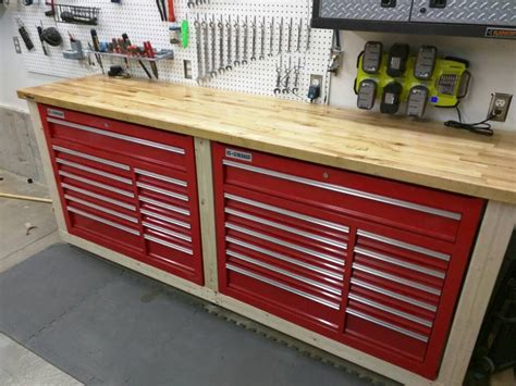 tool bench for garage my 24x28 auto shop build page 4 the garage journal