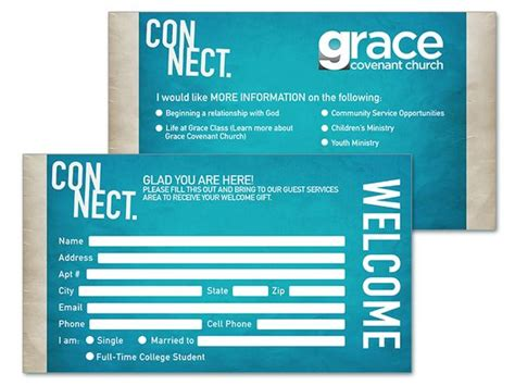 church volunteer info card template 8 church connection card templates