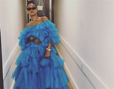 Bjg Blue Dress rihanna wore a cinderella ballgown with sneakers