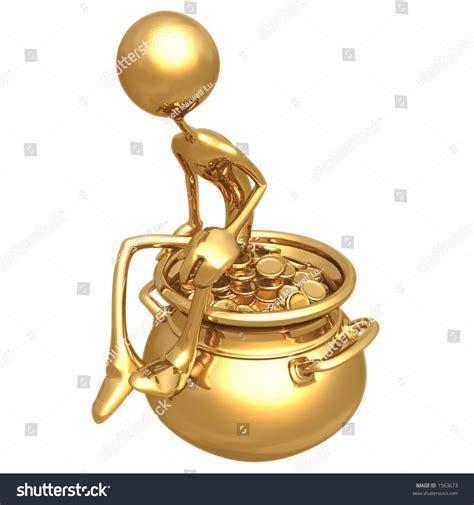 Stock Pot Golden pot of gold stock photo 1563673