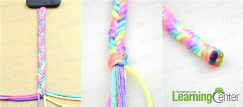 How To Make String On Paper - how to make easy rainbow string bracelet quickly in five