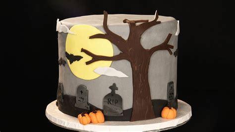 decorating  halloween cake  fondant youtube