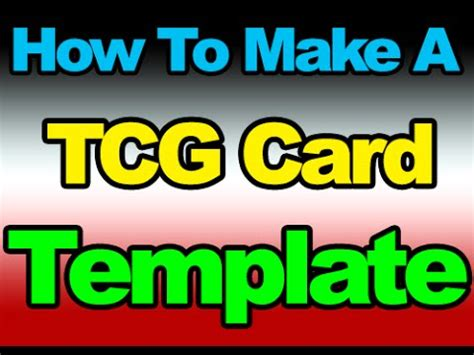 how to make a card template how to make a tcg card template