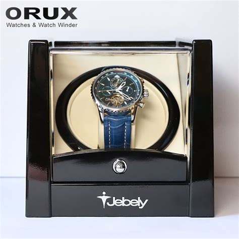 Winder Jebely Single מוצר jebely new arrival black single winder for automatic watches box automatic