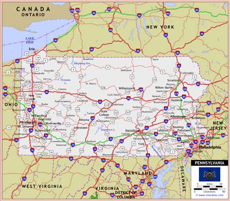 road map of pennsylvania pennsylvania highway map swimnova
