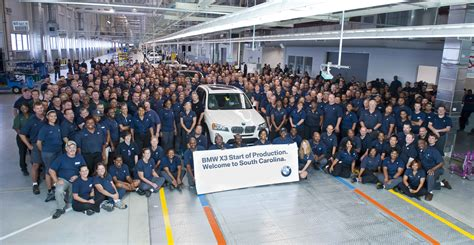 bmw factory bmw begins production of the new bmw x3 at spartanburg plant