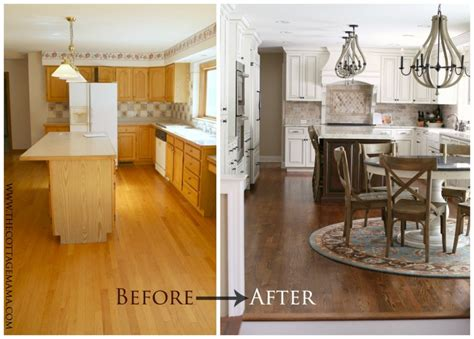 before and after kitchen makeover the cottage