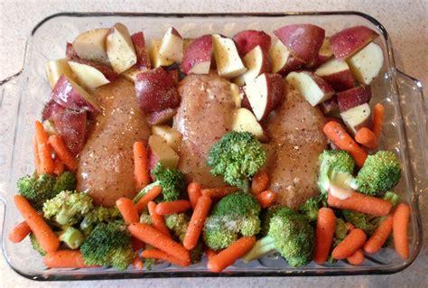 vegetables dinner dessertation easy baked chicken dinner and vegetables