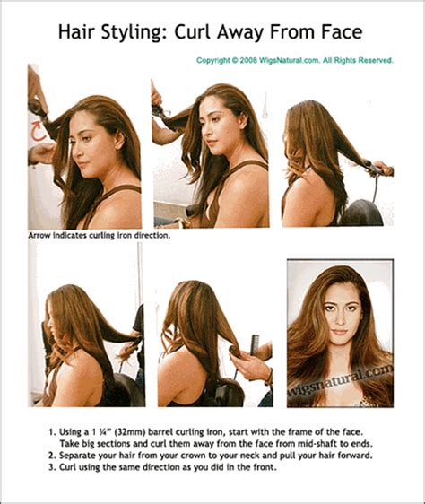 curl hair away from face or toward face how to curl hair away from face hairstylegalleries com