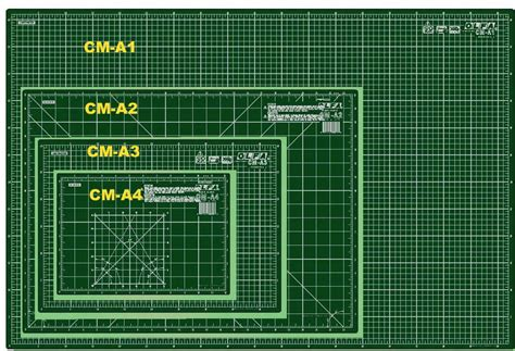 Size Of Mat by Olfa Cutting Mat Different Sizes Imperial Metric Self