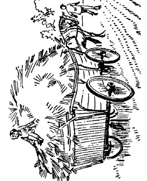 farm equipment coloring page farm horse drawn hay wagon
