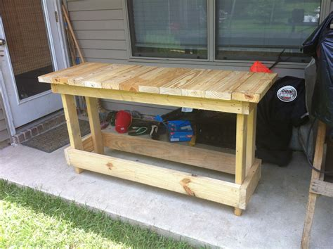 making a work bench build free wood workbench plans diy plywood furniture
